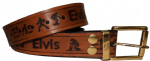 "ELVIS Embossed Full Grain Leather Belt with Detachable Buckle - 1½"" (38mm) Wide. Design: ELVISEMB01"